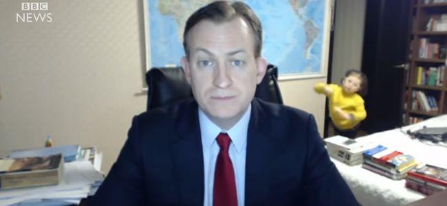 A filmrajongókat is megihlette a BBC-riportba berohanó gyerekek jelenete - videó