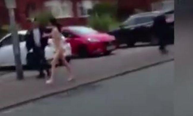 Durva videó: ez a nő meztelenül futkosott az utcán, senki nem tudja, miért