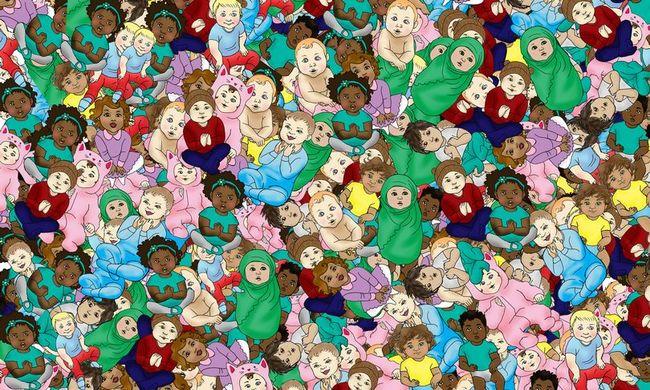 Izzasztó képrejtvény: megtalálja az alvó babát a képen?