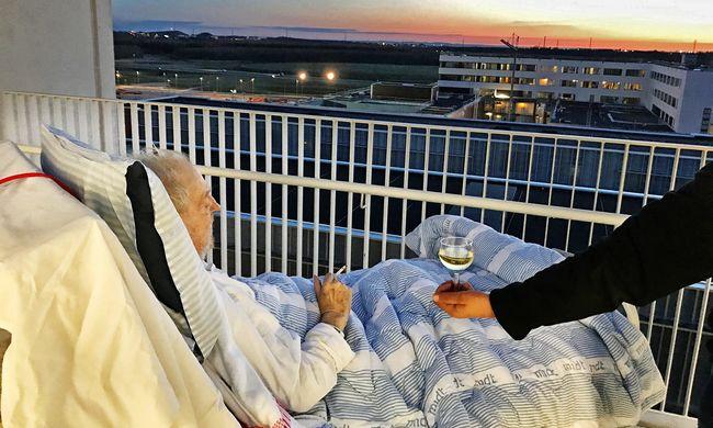 Ágyában vitték ki a teraszra a haldoklót: a kórháztól cigit és bort is kapott