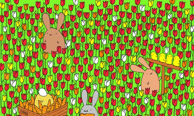 Kétperces teszt: megtalálja az elrejtett tojást?