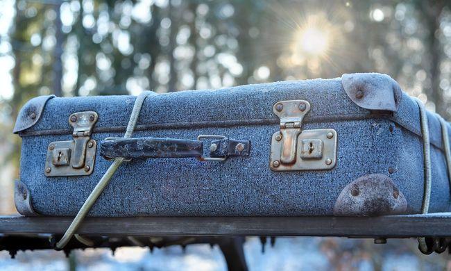 Emberi maradványokkal teli bőröndöket rejtett az erdő