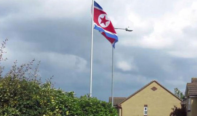 Váratlan helyen bukkant fel az észak-koreai zászló