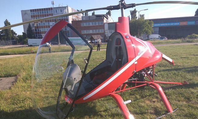 Lezuhant egy helikopter Budapesten - fotó