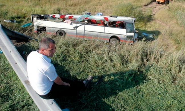 Tragikus buszbaleset történt, rengeteg a halott