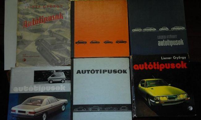 Magyar autóskönyvek fűzve, kötve, vörös farokkal