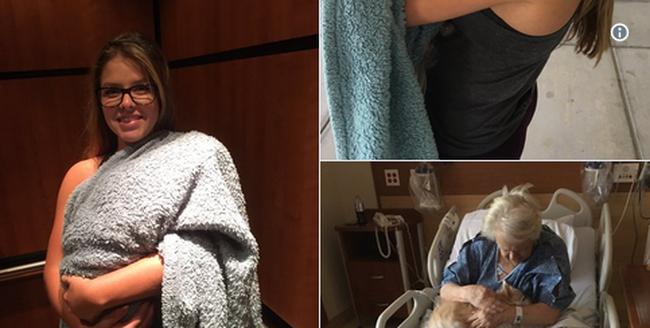 Megható meglepetés: babának álcázta kutyáját, hogy bevihesse a kórházba