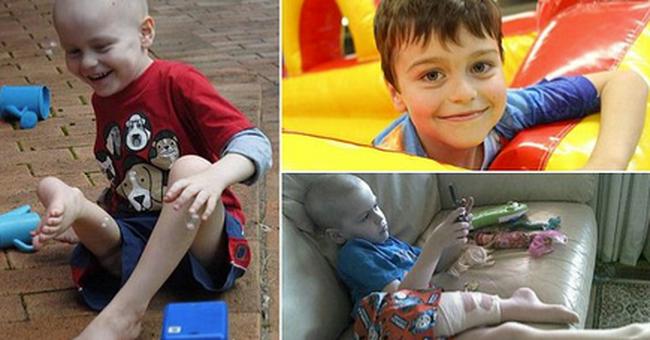 Fordítva varrták vissza a kisfiú lábát, tumor volt a térdében