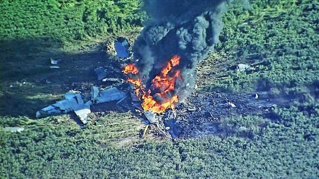 Szörnyethaltak a repülőgép utasai, egy szántóföldön történt a tragédia