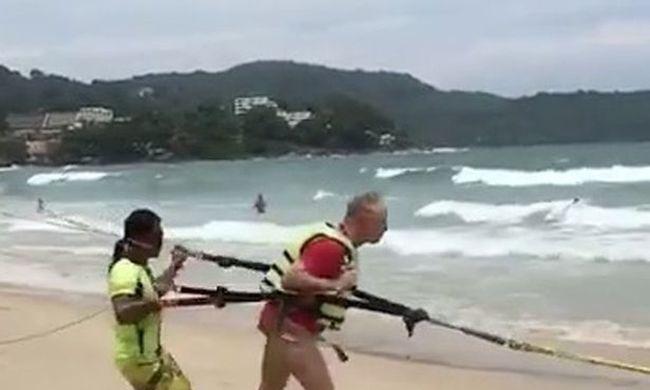 A strandolók szeme láttára vesztette életét egy nyugdíjas