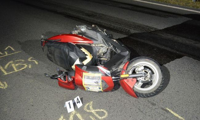 Szörnyű baleset történt, a kórházban belehalt sérüléseibe a motoros