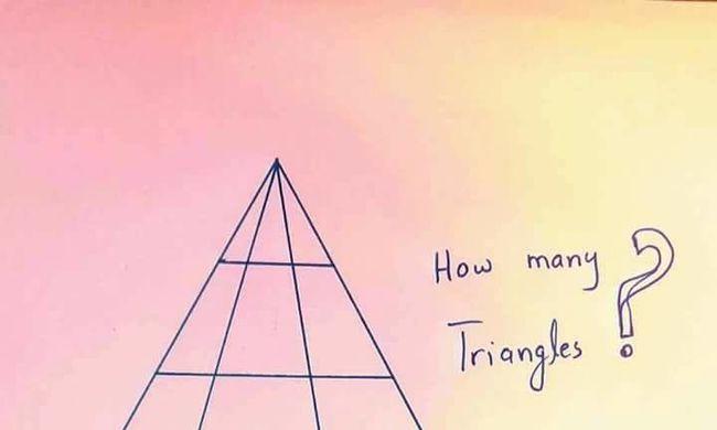 Lázban égnek az internetezők: Ön hány háromszöget lát a képen?