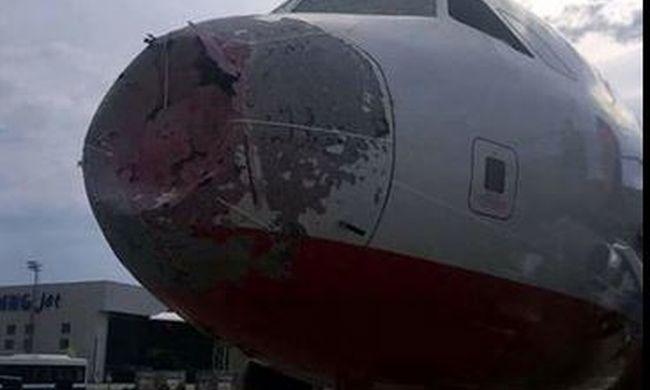 Horror a repülőn: a pilóta se látott ki az ablakon a vihartól