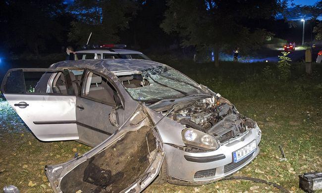 Szörnyű baleset történt Töknél - fotó