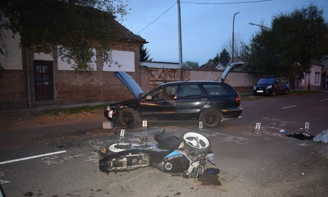 Súlyos motorbaleset történt - fotó a helyszínről