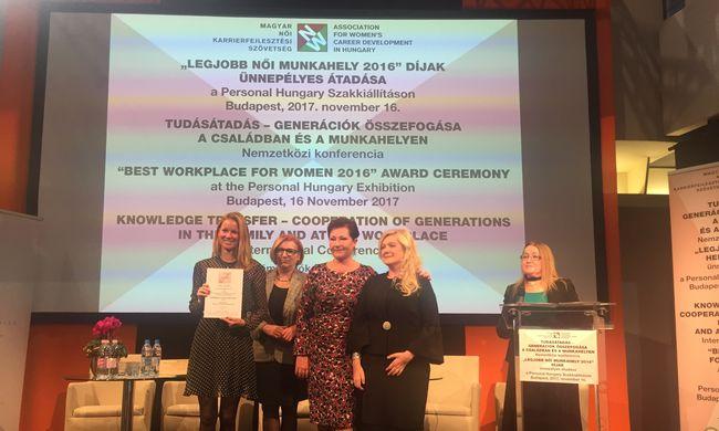 A Legjobb Női Munkahely díjazottjai között az MVM Zrt.