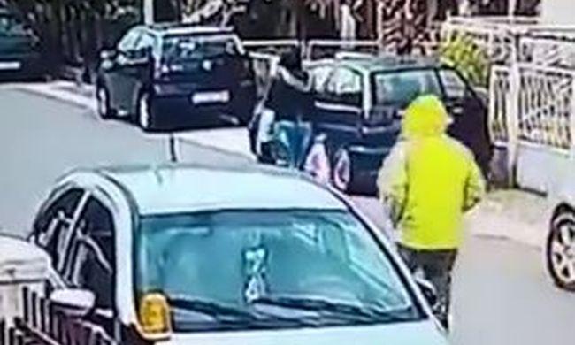 Elképesztő videó: különleges megmentője akadt az utcán megtámadott nőnek