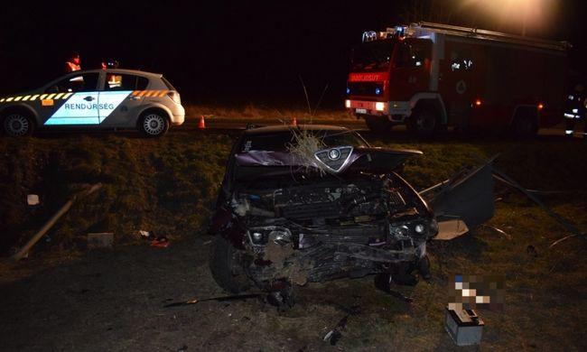 Súlyos baleset történt a főúton, részegen vezetett a sofőr