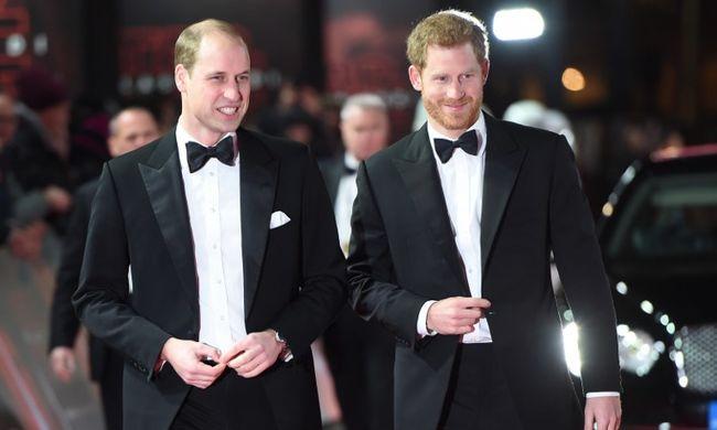 Filmjük premierjén bukkant fel Harry és Vilmos herceg