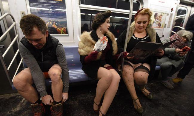 Új őrület hódít: félmeztelen emberek bukkantak fel a metrón