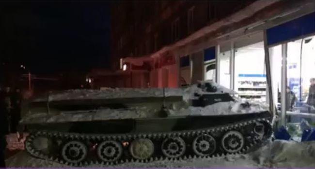 Bort akart, tankkal hajtott az üzletbe