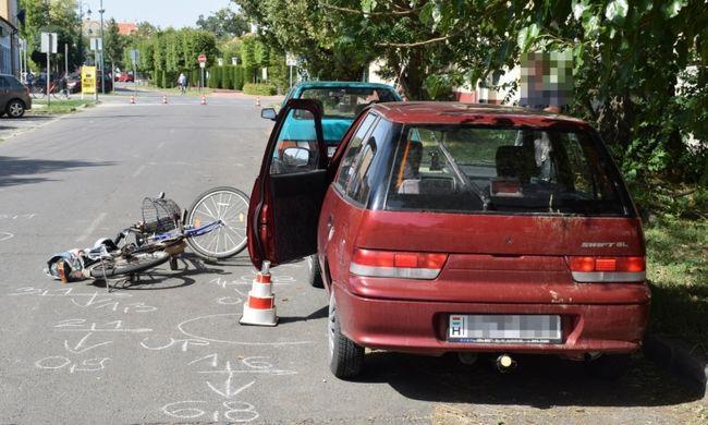 Borzalmas balesetben hunyt el egy békési biciklis, autóajtónak ütközött