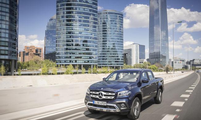 X akta: Bemutatták az új Mercedes pickup-ot