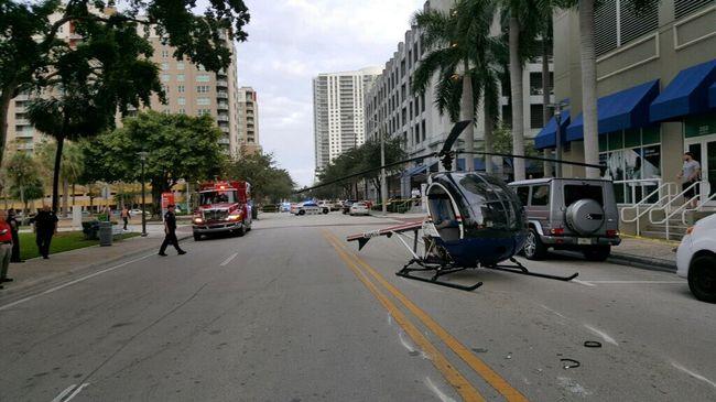 Döbbenetes látvány: leszakadt a helikopter farka, az utcára zuhant