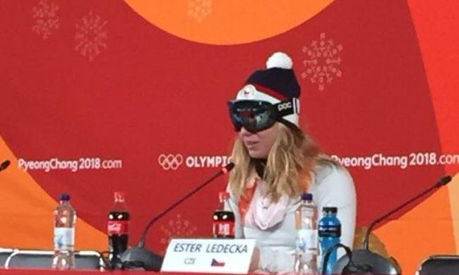 Nem sminkelt, ezért síszemüvegben adott interjút az olimpia meglepetésembere