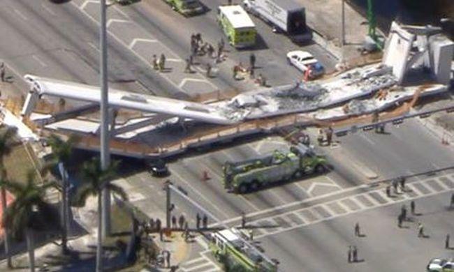 Most jött a hír: összedőlt egy felüljáró Miamiban, többen meghaltak