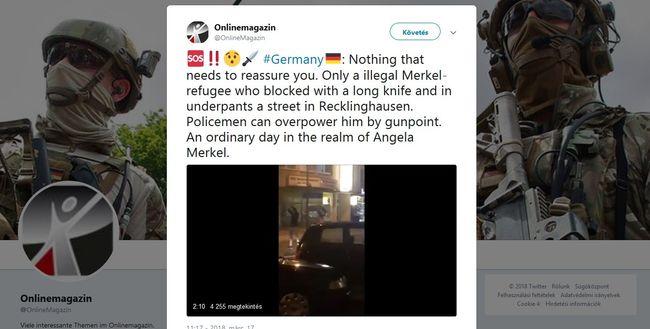 Félelmetes videót kaptunk: 40 centis késsel ugrott az autók elé a migráns, Allahot éltette