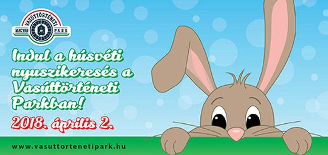Indul a húsvéti nyuszikeresés a Vasúttörténeti Parkban!