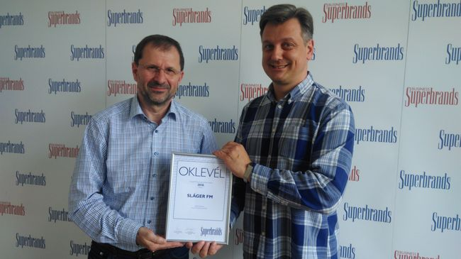 Superbrands díjas a 103.9 Sláger FM!