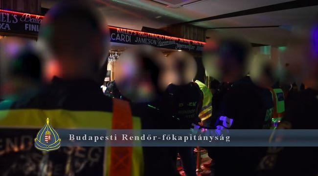 Óriási razzia volt egy budapesti szórakozóhelyen-Videó