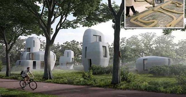 Itt a megoldás a kőműves-hiányra: házakat nyomtatnak a városba