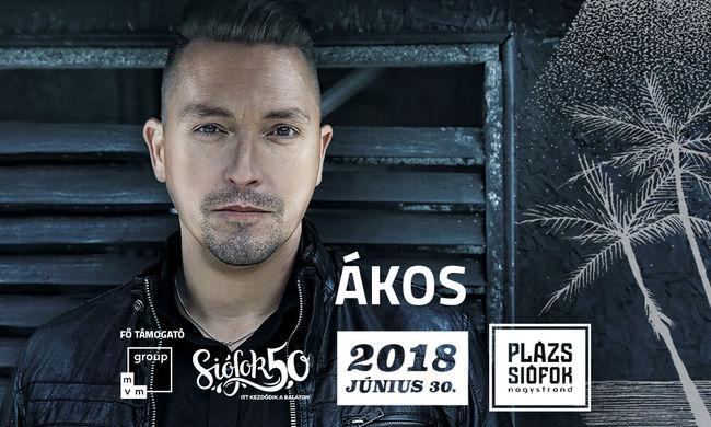 Ákos50 koncert a Siófok50 programsorozatban