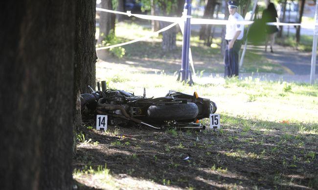Így néz ki a Dunakeszin történt halálos motorbaleset helyszíne-fotók