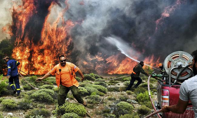 Pokoli tűzvész Görögországban: több magyar érintettje is van a katasztrófának