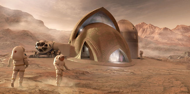 Közölték a fotókat: ilyen házakban fognak élni a Mars lakói