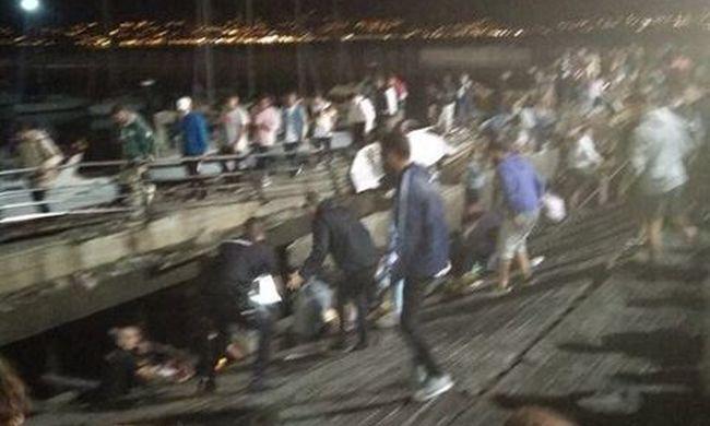 Rengeteg a sérült, több száz ember alatt omlott be a nézőtér