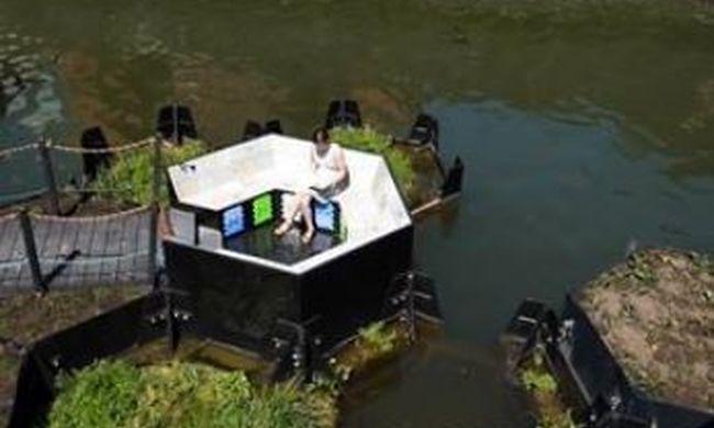 Elképesztő újítás, itt úszó parkokat építenek a szemétből - videó