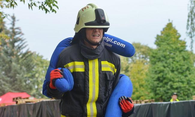 Ilyen volt a legerősebb tűzoltók versenyének második napja-Videó