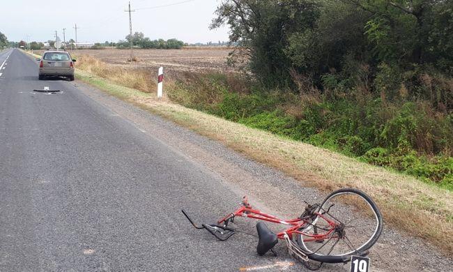 Fotó a reggeli tragédiáról, a békési biciklisnek esélye sem volt