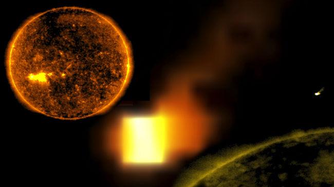Ismét felbukkant a földméretű űrkocka a Nap közelében