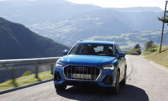 Győrben készülő Audi Q3-sokat tesztelt a nemzetközi média Dél-Tirolban