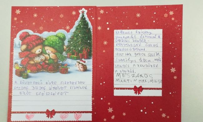 A legédesebb karácsonyi üzenetet egy magyar kisfiú írta a rendőröknek
