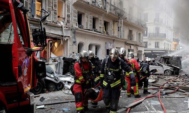 Gázrobbanást történt egy párizsi pékségben-Helyszíni fotók