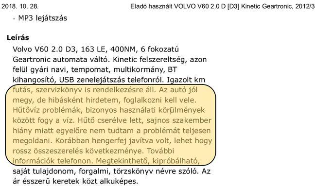 Mesél a szakértő - Álltában lett hengerfejes a Volvo
