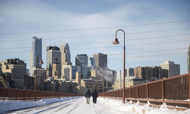 """""""Normálisan"""" a sarkvidéken szokott ilyen hideg lenni, mínusz 40 fok miatt rendkívüli állapot Amerikában"""