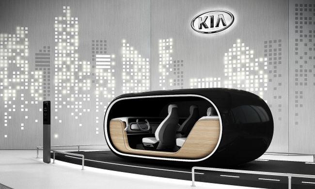 Az önvezető jövőbe tekint a Kia